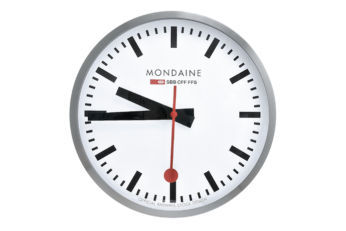 Wall clock railway wikiconic - Swiss railway wall clock ...